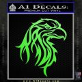 Eagle Tribal Decal Sticker Lime Green Vinyl 120x120