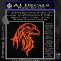 Eagle Tribal Decal Sticker Orange Vinyl Emblem 120x120
