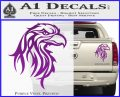 Eagle Tribal Decal Sticker Purple Vinyl 120x97