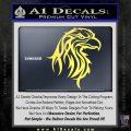 Eagle Tribal Decal Sticker Yelllow Vinyl 120x120
