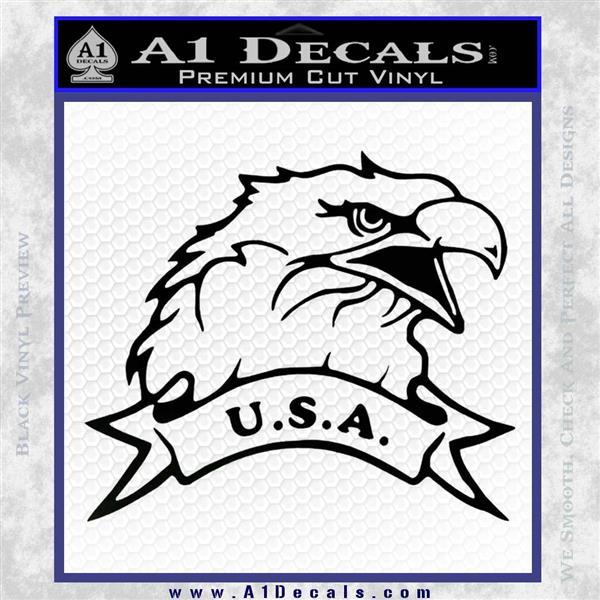Eagle USA Decal Sticker Black Logo Emblem