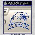 Eagle USA Decal Sticker Blue Vinyl 120x120