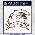 Eagle USA Decal Sticker Brown Vinyl 120x120