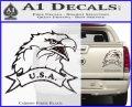 Eagle USA Decal Sticker Carbon Fiber Black 120x97