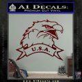 Eagle USA Decal Sticker Dark Red Vinyl 120x120