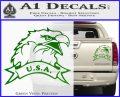 Eagle USA Decal Sticker Green Vinyl 120x97