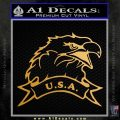 Eagle USA Decal Sticker Metallic Gold Vinyl 120x120
