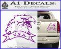 Eagle USA Decal Sticker Purple Vinyl 120x97