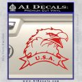 Eagle USA Decal Sticker Red Vinyl 120x120