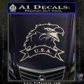 Eagle USA Decal Sticker Silver Vinyl 120x120