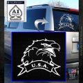 Eagle USA Decal Sticker White Emblem 120x120