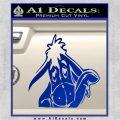 Eeyore Wave Decal Sticker Winnie the Poo Blue Vinyl 120x120