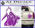 Eeyore Wave Decal Sticker Winnie the Poo Purple Vinyl 120x97