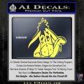 Eeyore Wave Decal Sticker Winnie the Poo Yelllow Vinyl 120x120