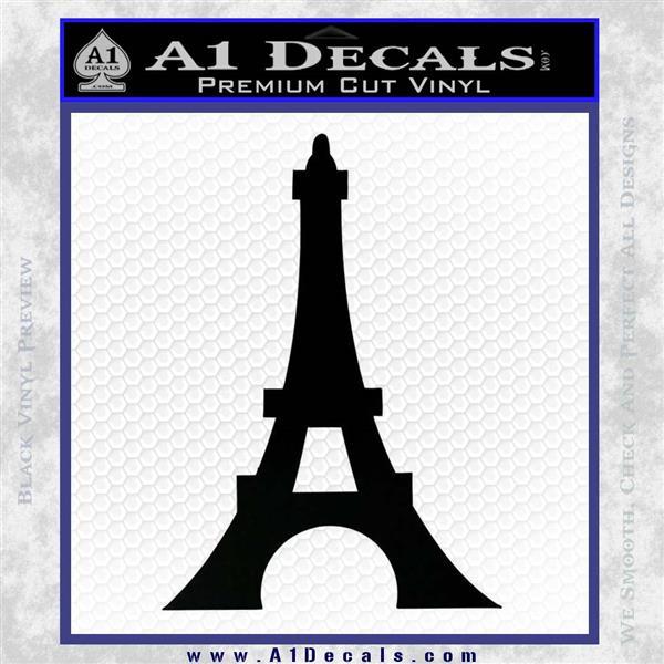 Eiffel Tower Paris Vinyl Decal Sticker DS Black Logo Emblem