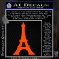 Eiffel Tower Paris Vinyl Decal Sticker DS Orange Vinyl Emblem 120x120