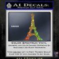 Eiffel Tower Paris Vinyl Decal Sticker DS Sparkle Glitter Vinyl 120x120