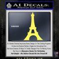Eiffel Tower Paris Vinyl Decal Sticker DS Yelllow Vinyl 120x120