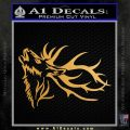 Elk Decal Sticker Tribal Metallic Gold Vinyl 120x120
