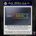 F Bomb Decal Sticker Full Sparkle Glitter Vinyl 120x120