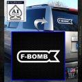 F Bomb Decal Sticker Full White Emblem 120x120