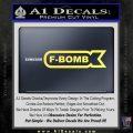 F Bomb Decal Sticker Full Yelllow Vinyl 120x120