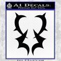 Fairy Tail Grimoire Heart Decal Sticker Black Logo Emblem 120x120