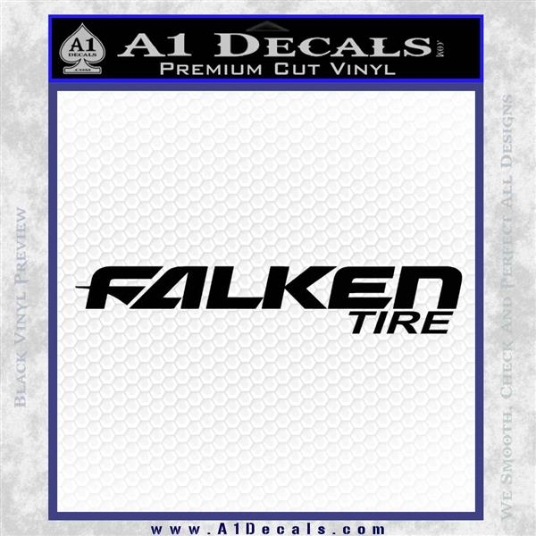 Falken tire decal sticker dw black logo emblem