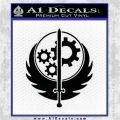 Fallout Brotherhood D4 Decal Sticker Black Logo Emblem 120x120