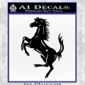 Ferraris horse RDZ Decal Sticker Black Logo Emblem 120x120