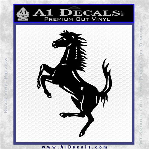 Ferraris horse RDZ Decal Sticker Black Logo Emblem