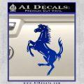 Ferraris horse RDZ Decal Sticker Blue Vinyl 120x120