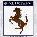 Ferraris horse RDZ Decal Sticker Brown Vinyl 120x120