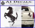 Ferraris horse RDZ Decal Sticker Carbon Fiber Black 120x97