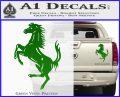 Ferraris horse RDZ Decal Sticker Green Vinyl 120x97