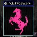 Ferraris horse RDZ Decal Sticker Hot Pink Vinyl 120x120