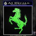 Ferraris horse RDZ Decal Sticker Lime Green Vinyl 120x120