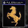 Ferraris horse RDZ Decal Sticker Metallic Gold Vinyl 120x120