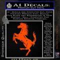 Ferraris horse RDZ Decal Sticker Orange Vinyl Emblem 120x120