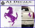 Ferraris horse RDZ Decal Sticker Purple Vinyl 120x97