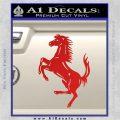 Ferraris horse RDZ Decal Sticker Red Vinyl 120x120