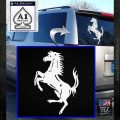 Ferraris horse RDZ Decal Sticker White Emblem 120x120