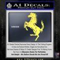 Ferraris horse RDZ Decal Sticker Yelllow Vinyl 120x120