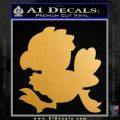 Final Fantasy Chocobo Decal Sticker D1 Metallic Gold Vinyl 120x120