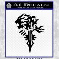 Final Fantasy Lionheart Decal Sticker DZA Black Logo Emblem 120x120