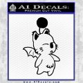 Final Fantasy Moogle Decal Sticker Video Games Black Logo Emblem 120x120