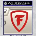 Firestone Decal Sticker Red Vinyl 120x120