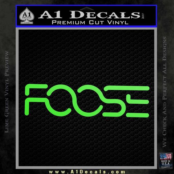 Foose Wheels Logo Vinyl Decal Sticker Lime Green Vinyl
