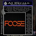 Foose Wheels Logo Vinyl Decal Sticker Orange Vinyl Emblem 120x120