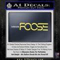 Foose Wheels Logo Vinyl Decal Sticker Yelllow Vinyl 120x120